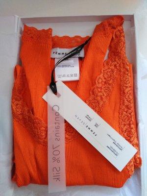 Super edles spitzen Top Femme Seven Gr M/L Orange