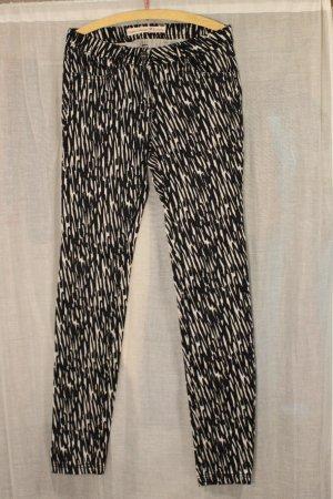 Super Extra Skinny Jeans Tom TAILOR HüftJeans W25 PUNK Gothic schwarz weiß