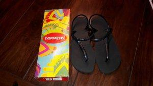 Havaianas High-Heeled Toe-Post Sandals black