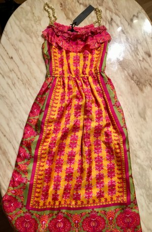 Dress multicolored silk