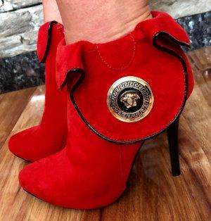 High Heel Sandal salmon imitation leather