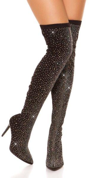 Super High Heels in gr 39 Farbe Schwarz Strass Neu