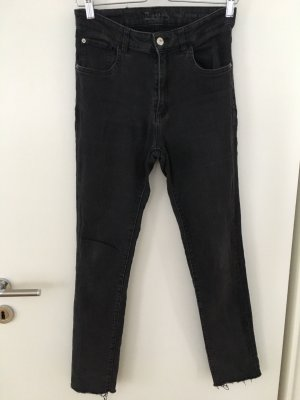 Zara Jeans skinny nero-grigio scuro