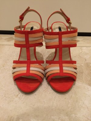 Super hot !  Sandalen in nude / rot