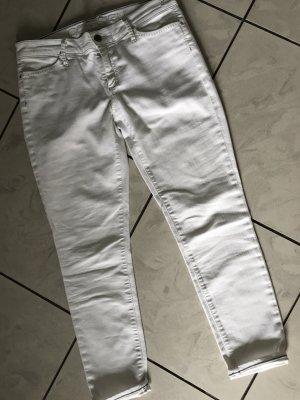 Goldsign 7/8 Length Jeans white-natural white cotton