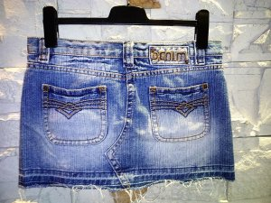 Super Jeansrock Mini in gr M von Denim
