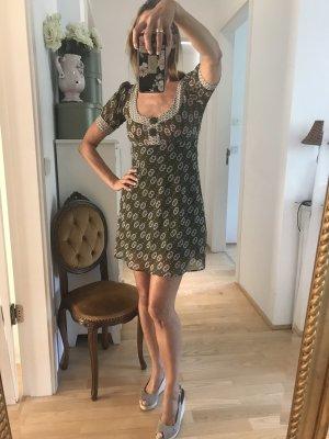 Atmosphere Chiffon jurk donkergroen-donkerpaars