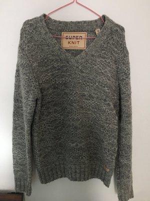 Super Knit Wollpullover Lammwolle Scotch & Soda M Strickpullover grau super warm