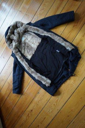 Super kuschelige warme Winterjacke von Esprit Gr.S Kunstfell Parka