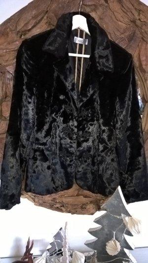 Super Kuschelweicher GELCO Fake Fur Blazer in schwarz Gr.40