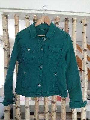 super lässige Jeans Jacke in grün