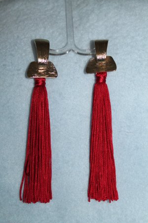 Statement Earrings brick red-gold-colored