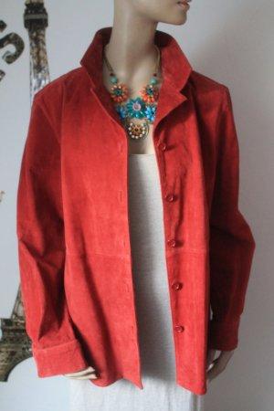 super Lederhemd * dunkles Rot * kaum getragen *