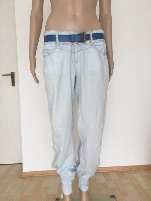 Super leicht Light lightweight Denim Jeans Cotton luftig weit Boyfriend Pumphose Haremshose