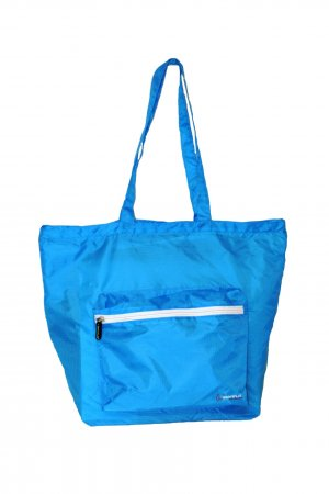Shopper light blue nylon