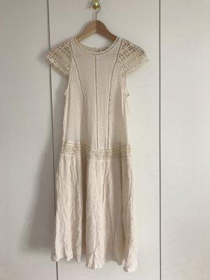 H&M Robe à manches courtes crème-blanc cassé
