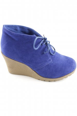 Super Mode Keil-Stiefeletten neonblau Casual-Look