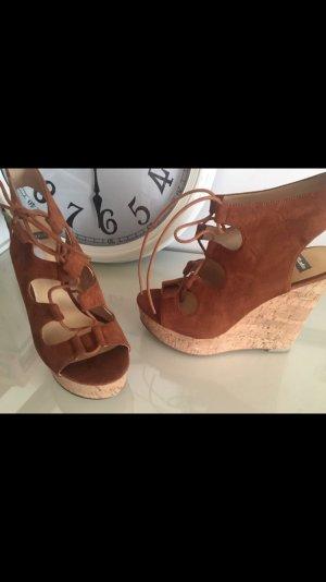Bata Sandales à plateforme brun