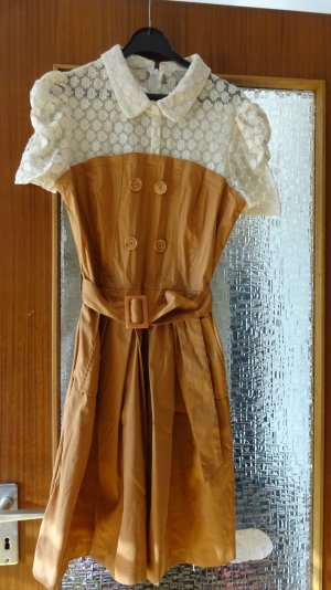 Orsay Petticoat Dress cognac-coloured-cream cotton