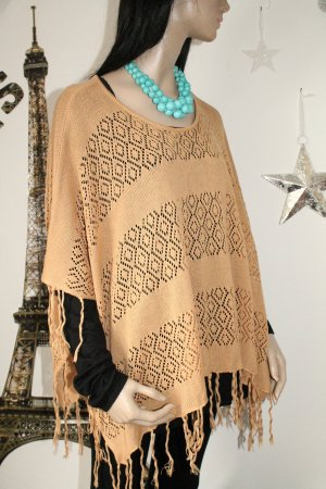 super Poncho * tolles Muster * Fransen * Hippie * Boho * One Size *