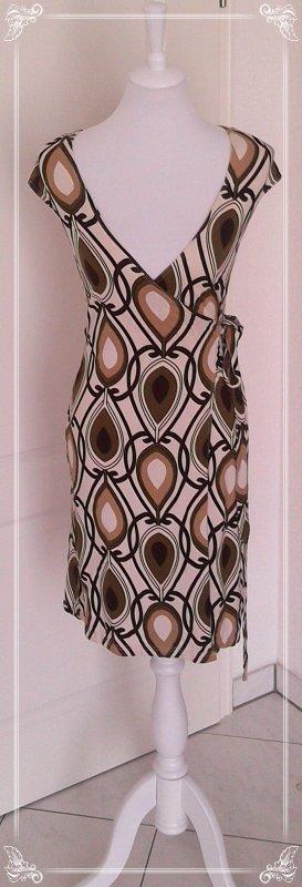 ♡super Preis♡wunderschönes Retro-Wickelkleid/Kleid von Melrose Gr.S♡