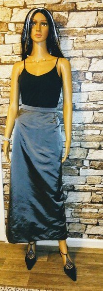 Maxi Skirt silver-colored
