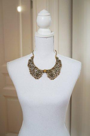 SUPER SALE! Halskette Kragen grazil verspielt elegant gold Metall Verschluss