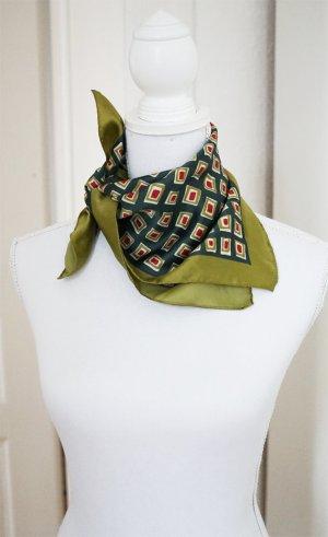 SUPER SALE! Halstuch olivgrün dunkelgrün orange grün Vintage-Look