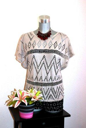 Amisu Top en maille crochet multicolore