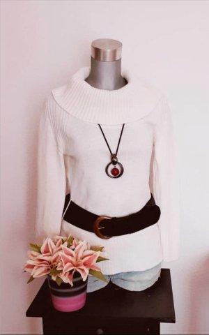 Super Sale !!! Letzte Reduzierung !!! Long Pullover Weiß/Creme gr. 38