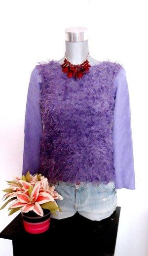 Jersey de cuello redondo púrpura-lila