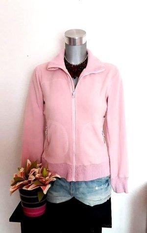 H&M Chaqueta de forro polar rosa claro-rosa empolvado
