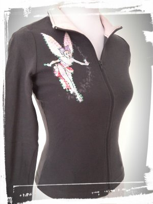 Super Sale%%schöne Weste/Shirt mit Feenmuster in grau/rosa von Madonna