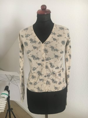 SUPER SALE ! Strickjacke Cardigan Blumen Millefleur blumig flower 34