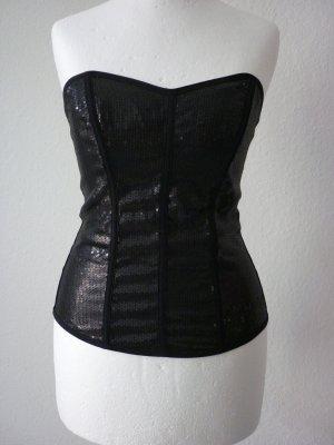 H&M Haut type corsage noir fibre synthétique