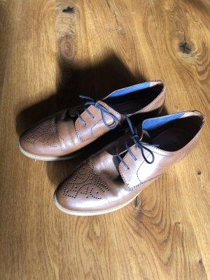 Tamaris Lace Shoes cognac-coloured-brown