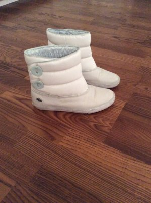 Lacoste Short Boots white leather