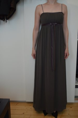 Empire Dress brown violet-grey violet chiffon