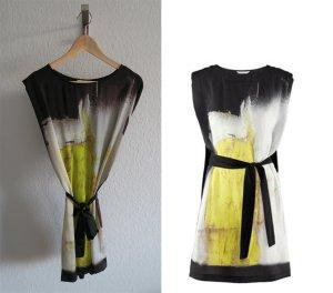 super schickes Kleid gelb schwarz Tunika