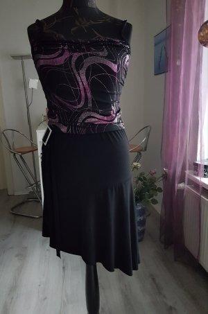 Jurk zwart-roze