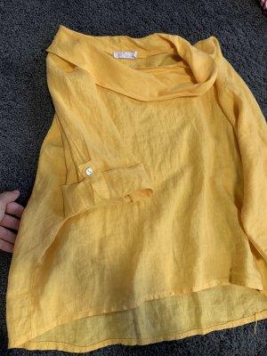 Costes Blusa de lino amarillo