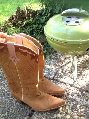 Super schöne Cowboystiefel Größe 40 41 (braun/hellbraun/camel/cognac)