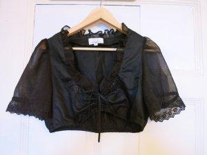 Super schöne Dirndl Bluse in schwarz mit Blumen, Gr.38