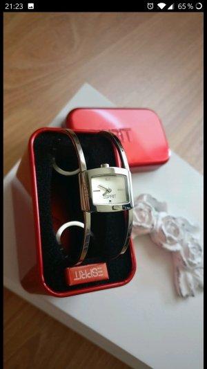 Super schöne elegante Spangen-Uhr von Esprit,Neu,Silber