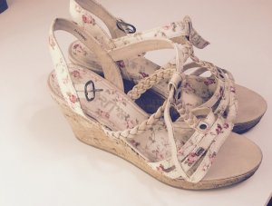 Esprit Wedge Sandals cream-neon red