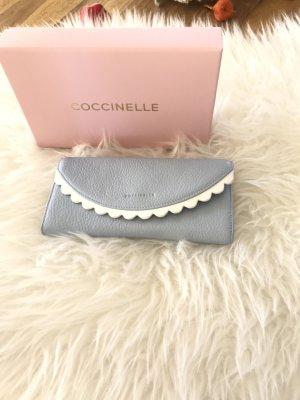 Coccinelle Cartera blanco-azul celeste Cuero