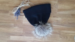 S.Marlon Knitted Hat black cashmere