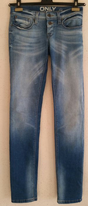 Only Jeans taille basse bleu