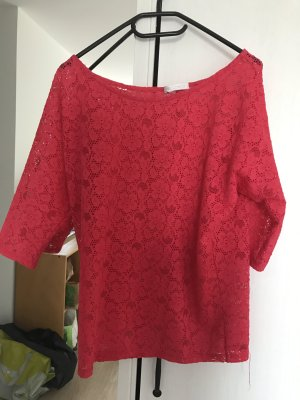 super schöne pinke Bluse mit Spitze/Crochet