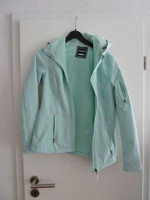 Veste softshell turquoise